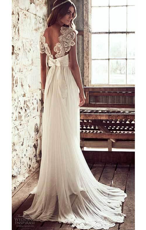 Beyaz Dantelli Nikah Elbisesi-19