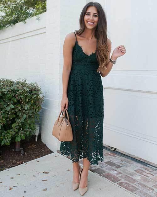 Yeşil Abiye Yazlık Elbise Modelleri-15