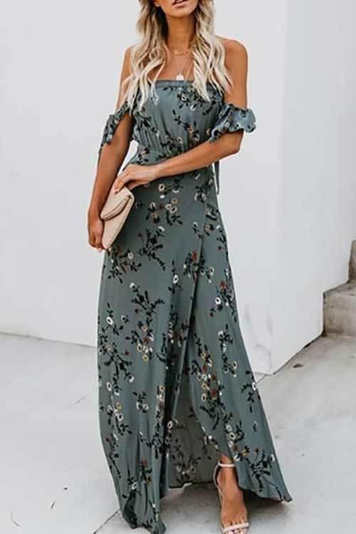 Uzun Yırtmaçlı Abiye Yazlık Elbise Modelleri-17