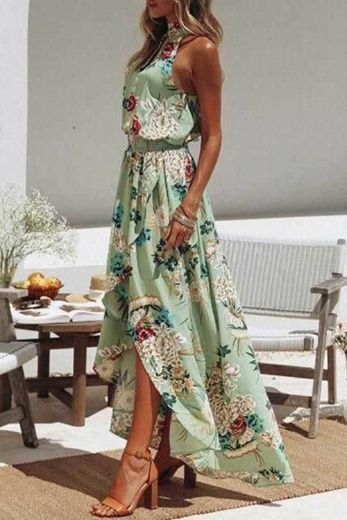 Yeşil Abiye Yazlık Elbise Modelleri-18