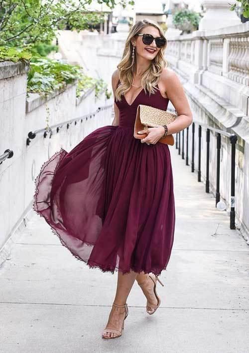 Tüllü Abiye Yazlık Elbise Modelleri-8