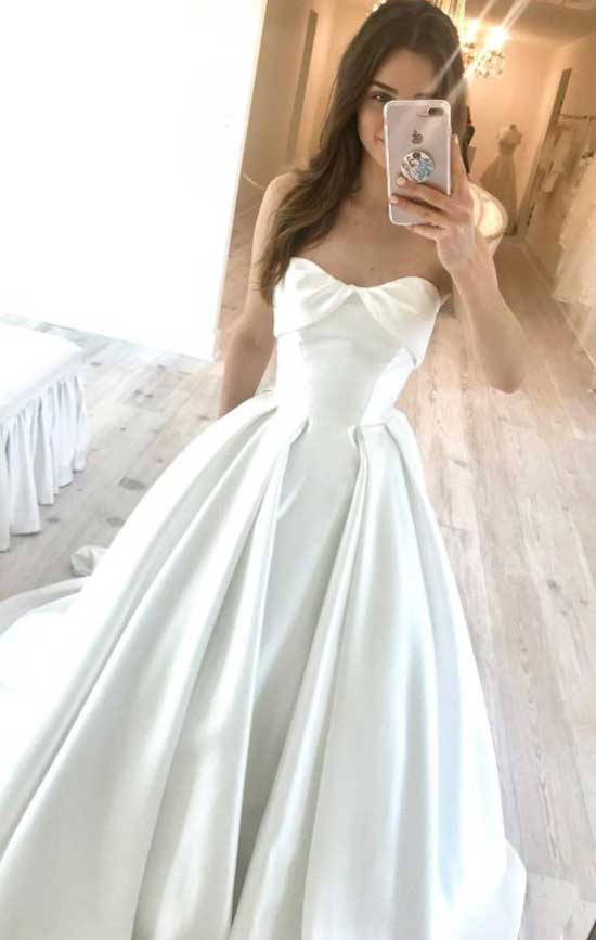 Saten Nikah Elbisesi Modelleri-6