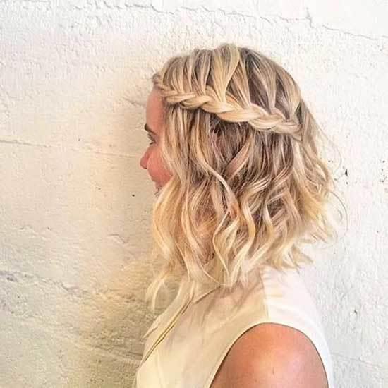 Kısa Saç Işıltı Şelale Örgü Modelleri