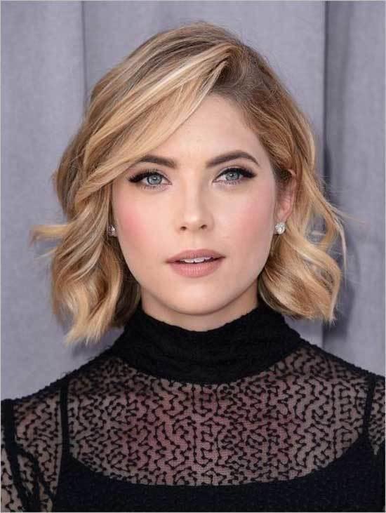 Sarışınlar için Kısa Saç Işıltı Modelleri