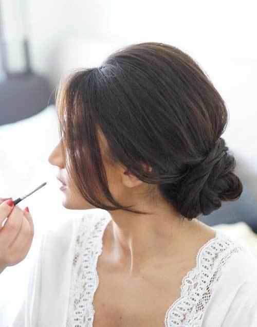 Düşük Gelin Topuz Saç Modelleri