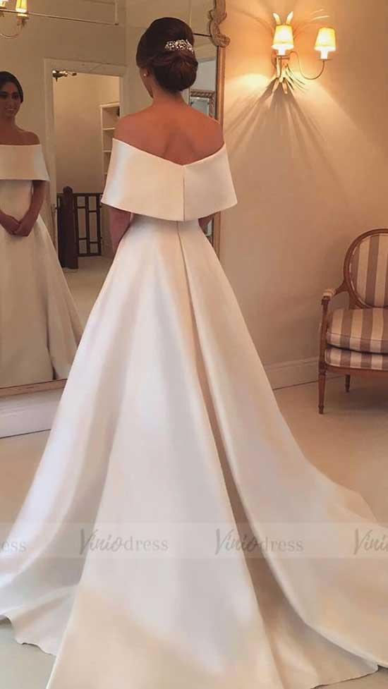 Gelinlik Yerine Giyilebilecek İspanyol Kollu Elbiseler-9