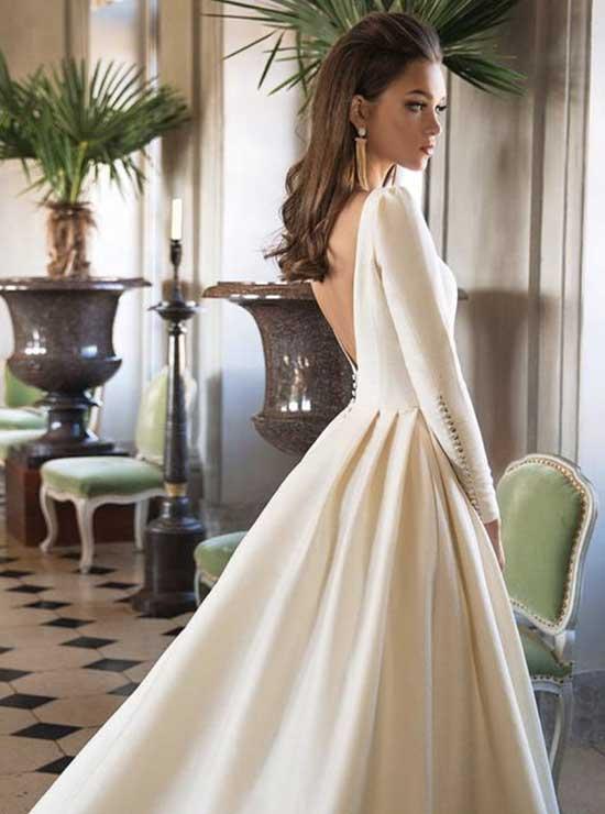 Nikahta Giyilecek Beyaz Elbise Modelleri