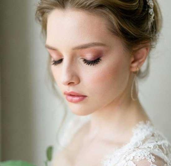 Şeftali Ton Düğün Makyajları-7